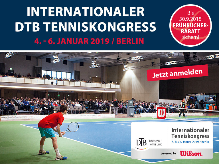 Anmeldestart: Internationaler DTB Tenniskongress 2019
