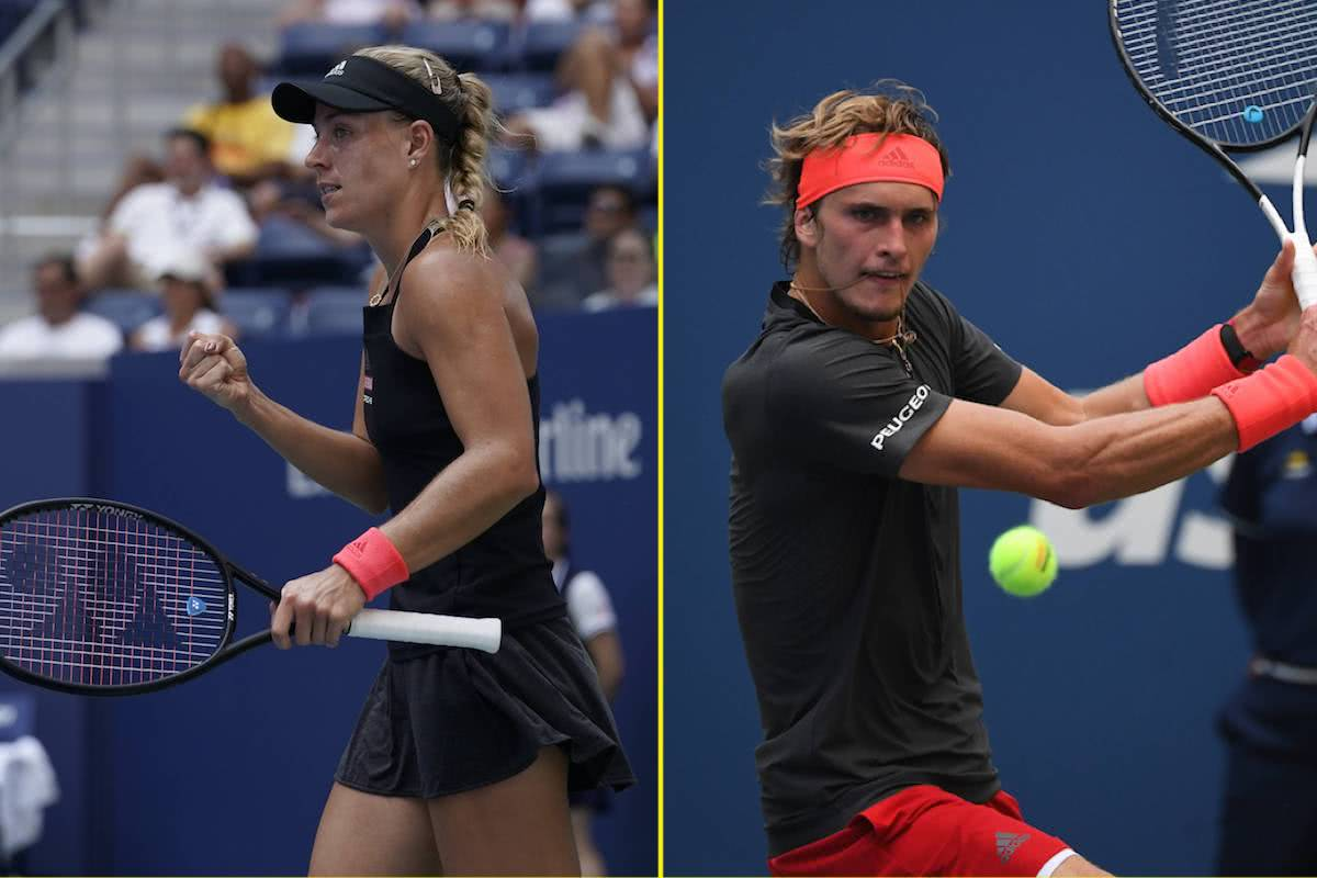 US Open: Zverev und Kerber in Action